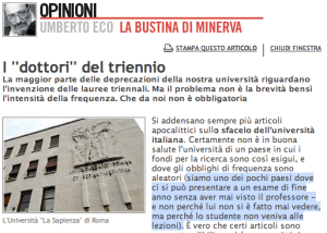 Umberto Eco, I \