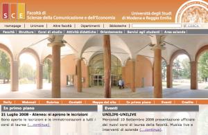 SCE UNIMORE > Homepage