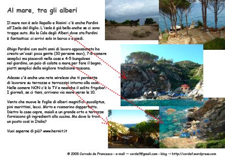 CDF > Al mare, tra gli alberi (e-card)
