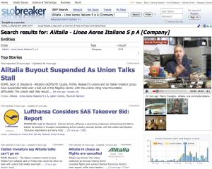 Silobreaker > Alitalia