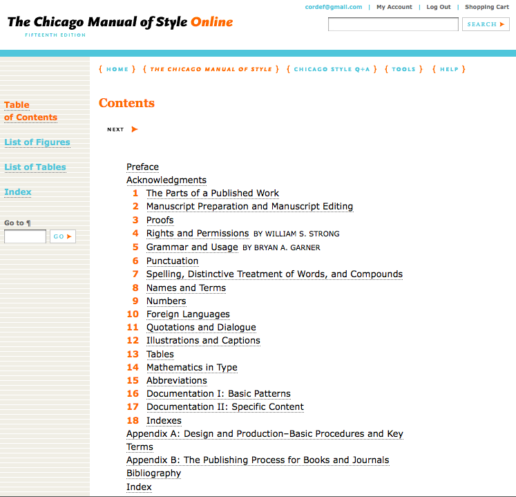 chicago manual of style cms