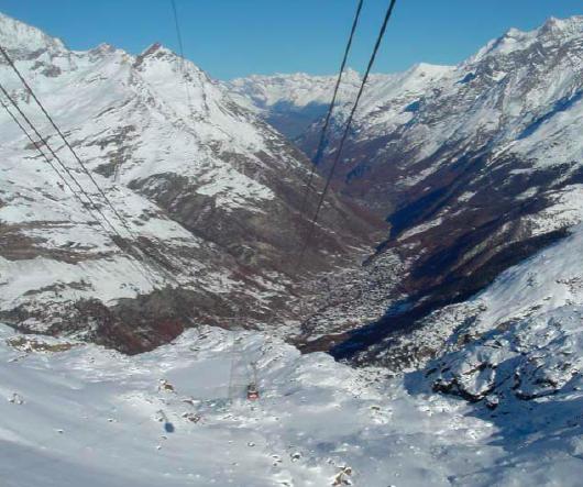 Trockener Steg > 15.11.2008 > Funivia verso Zermatt