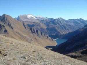 Il lago di Morasco dal Passo del Gries