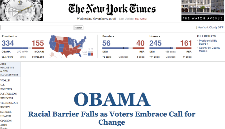New York Times > 5.11.2008
