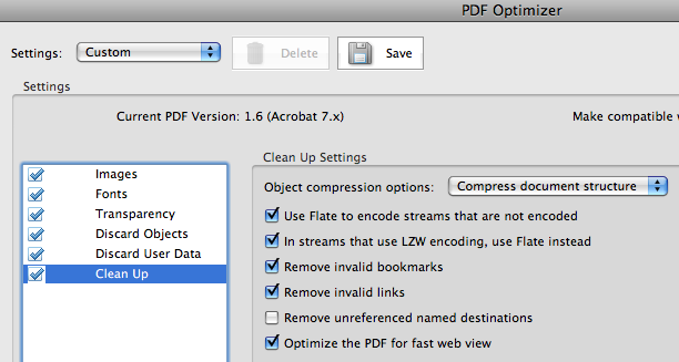 Acrobat Professional 8 > PDF Optimizer