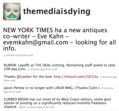 The media is dying > 15.12.2008