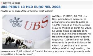 ANSA > 10.02.2009 > UBS
