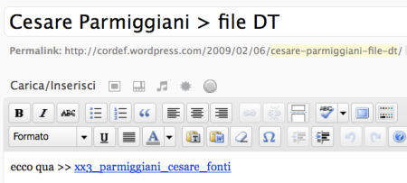 Wordpress > aggiungi media