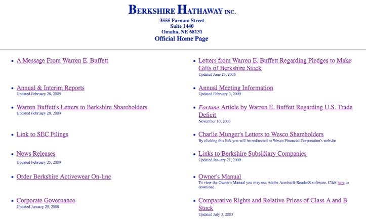 Berkshire Hathaway > homepage