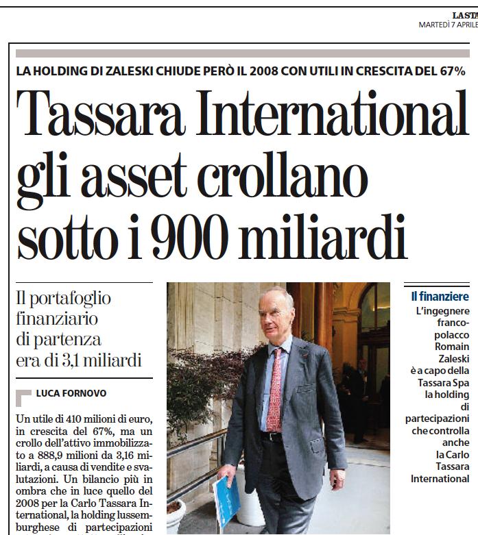 La Stampa > 07.04.2009 > Tassara