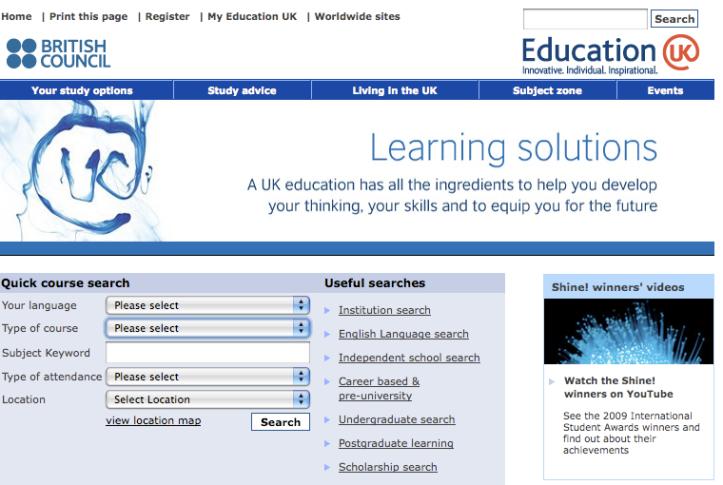 EDUCATION UK > Search