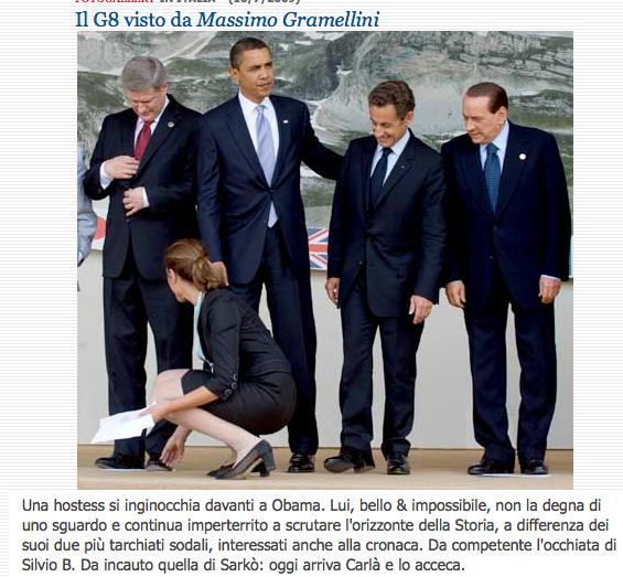 LA STAMPA > il G8 visto da Massimo Gramellini