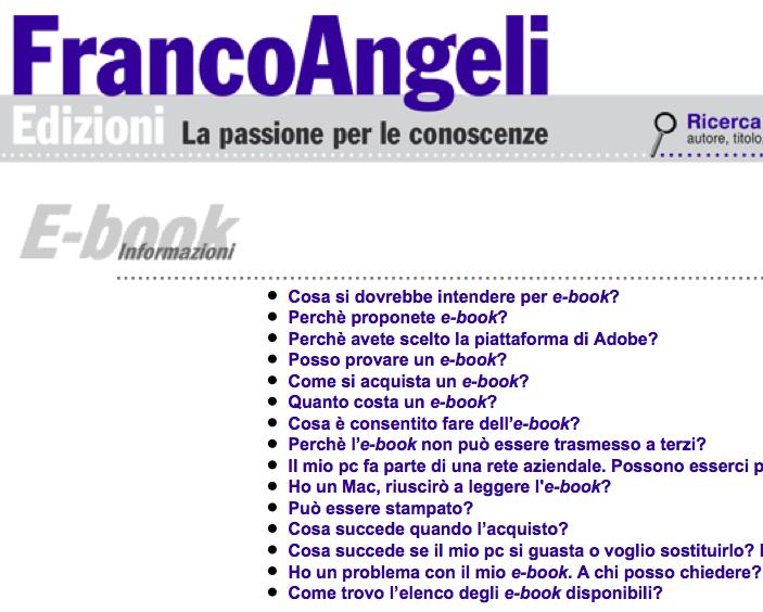 FRANCOANGELI > E-book