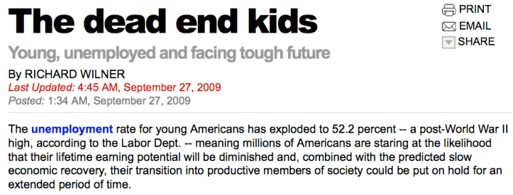 New York Post > 27.09.2009 > The dead end kids