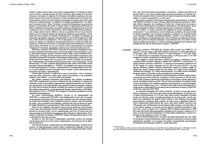 ISTAT > Annuario Statistico Italiano 2009, p. 178-179