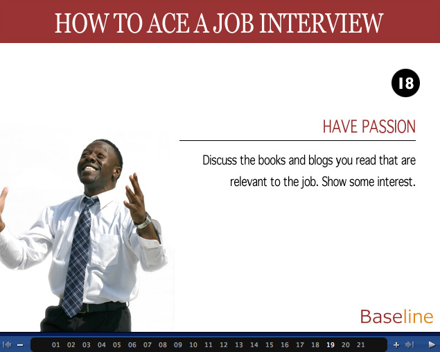 BASELINE > How to Ace a Job Interview