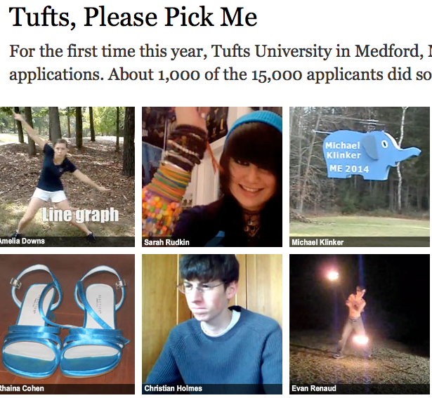 NYT > Tufts University > Video degli studenti