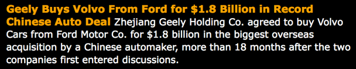 BLOOMBERG > 2010-03-29 > Geely compra Volvo