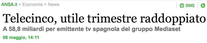 ANSA > 6.05.2010 > Telecinco