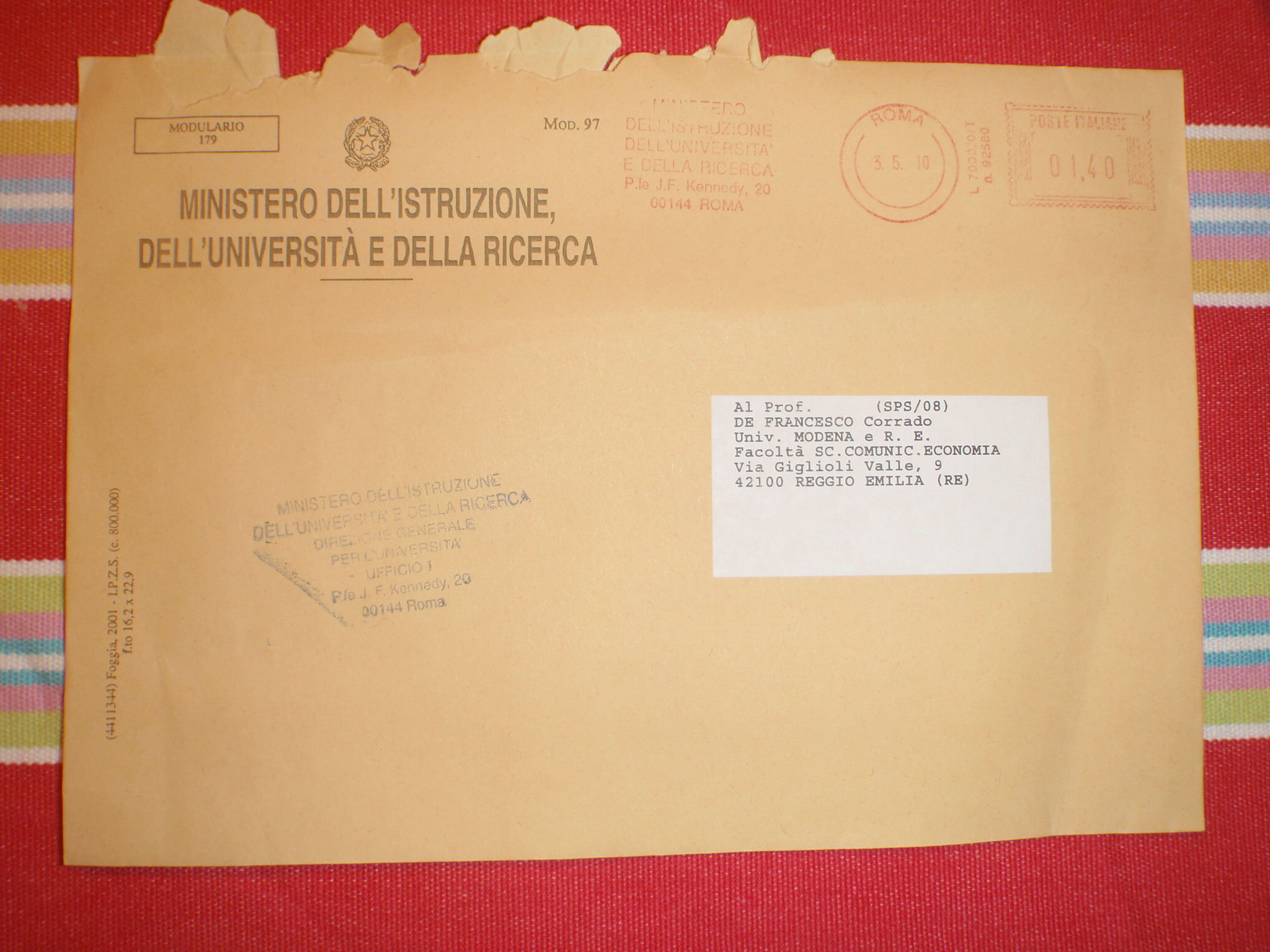 Famoso Una lettera dal Ministero – Cordef ZW23