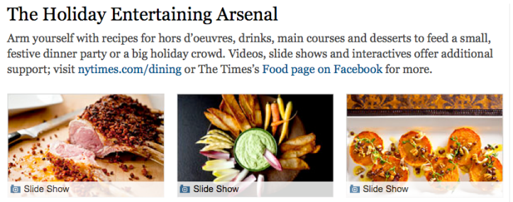 NYT > The Holiday Entertaining Arsenal