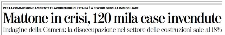 La Stampa > 2011.01.26 > Mattone in crisi