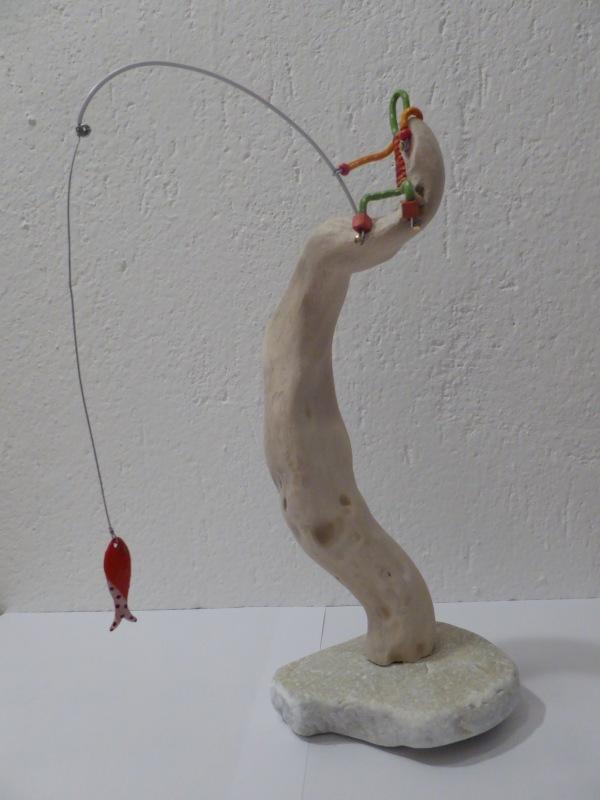 Il pescatore (i cordini di Cordef, 2015, cm. 30)