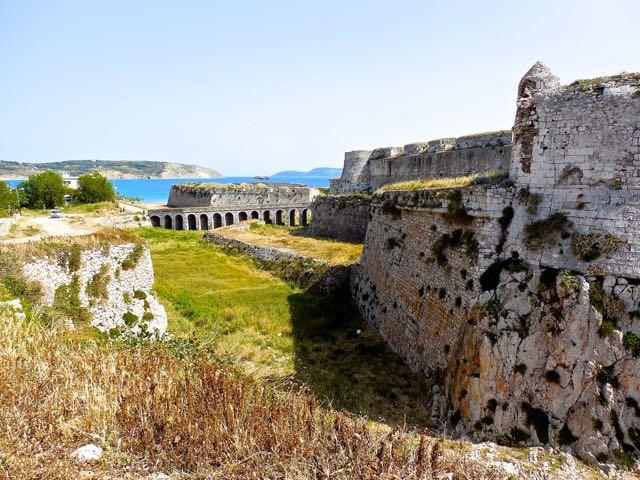 L'accesso al castello di Methoni