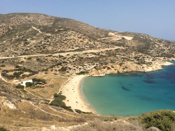 La spiaggia di Kedros
