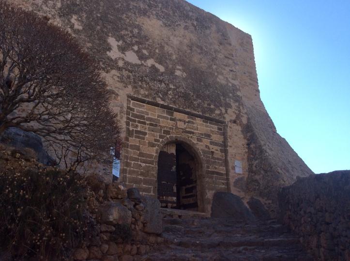 La porta di accesso alla rocca