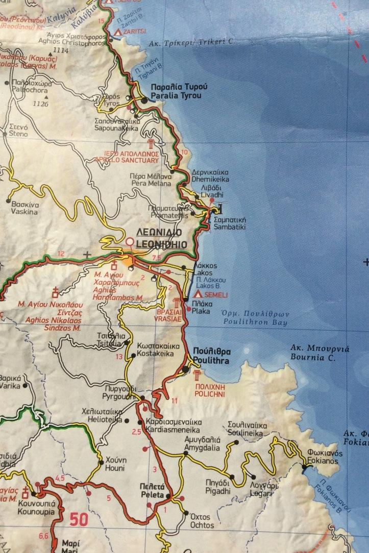 Dalla carta Peloponneso (200.000) di Terrain Maps