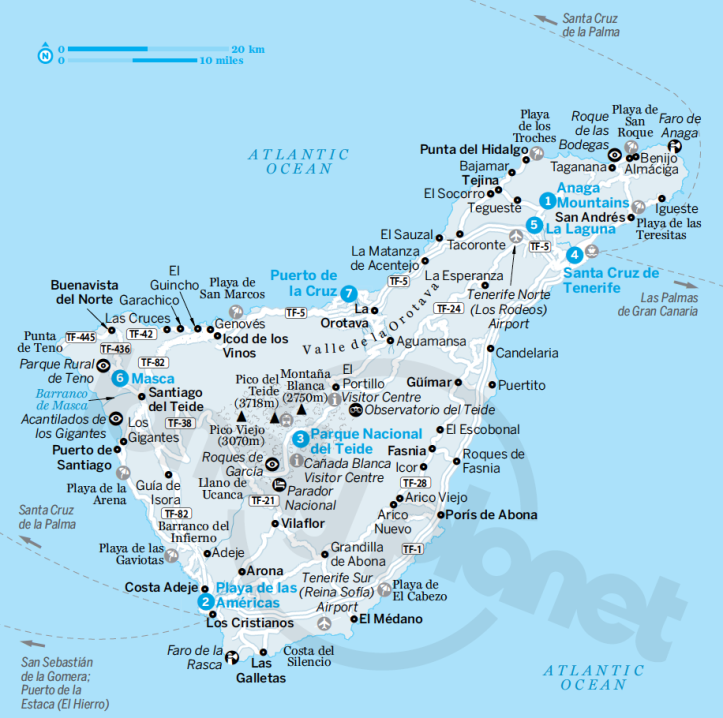 Tenerife (dalla guida Canary Islands di Lonely Planet)