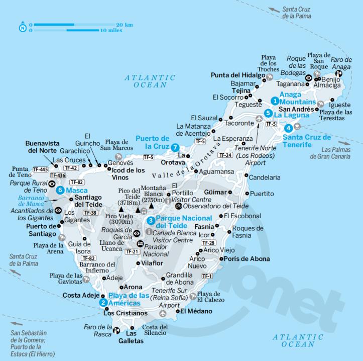 Tenerife (dalla guida Canary Islands di Lonely Planet)