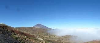 Teide sullo sfondo scendendo verso La Laguna