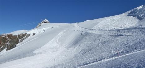 i pendii sotto il Klein Matterhorn