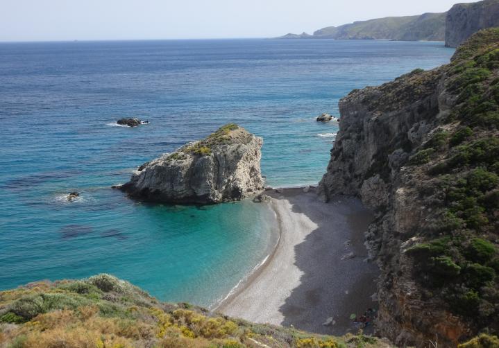 la prima spiaggia di Kaladi (sud-est)