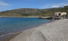 Una delle due spiagge di Agios Nikolaos (nord)