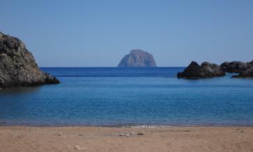 la spiaggia di Melidoni (sud-ovest)